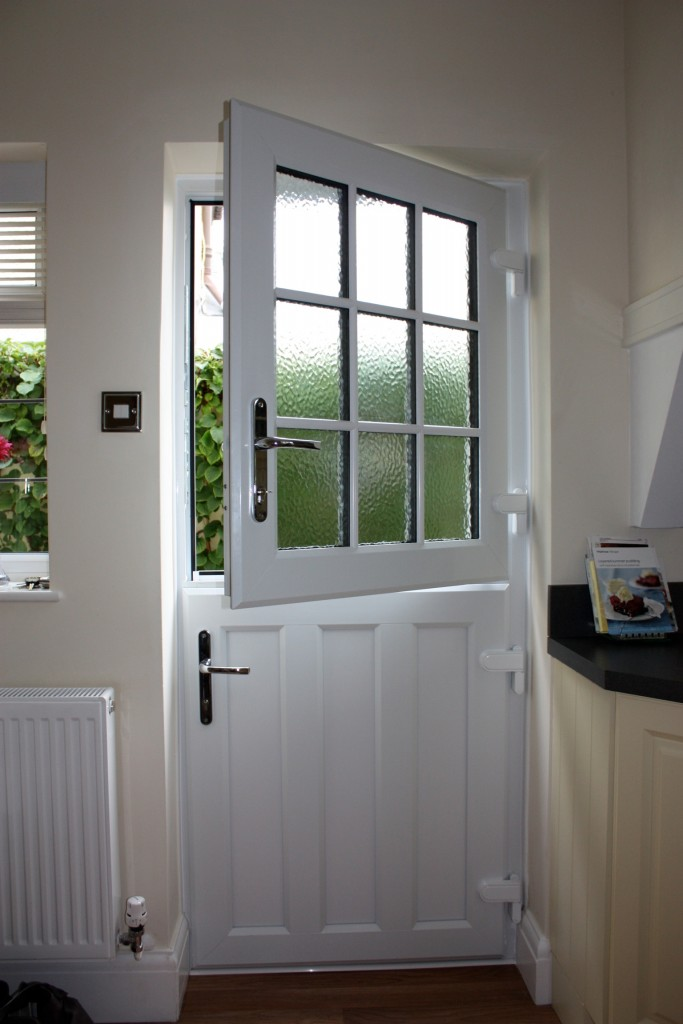 Wooden upvc stable doors in somerset for White back door