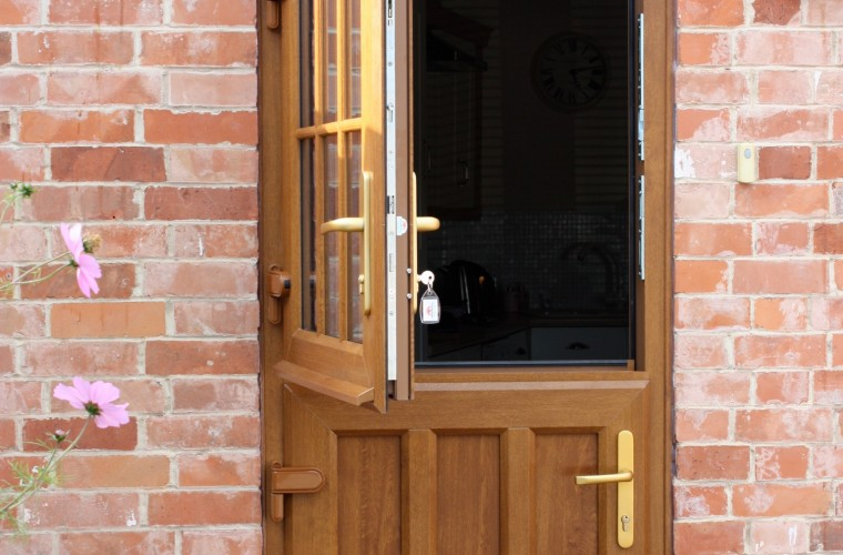 Wooden upvc stable doors in somerset for Wood effect upvc french doors