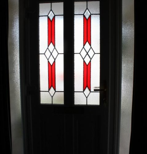 Somerset stained glass front doors